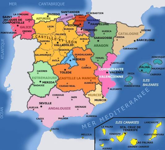 L'Espagne et ses Régions